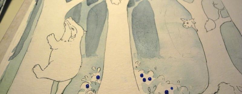 Dachs Geschichte, Aquarell Illustration, watercolor
