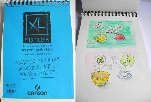 Vegan malen – Diese Aquarellpapiere sind gelatinefrei | Gesche Santen