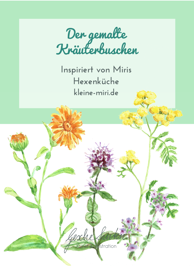 Der gemalte Kräuterbuschen | Gesche Santen Blog