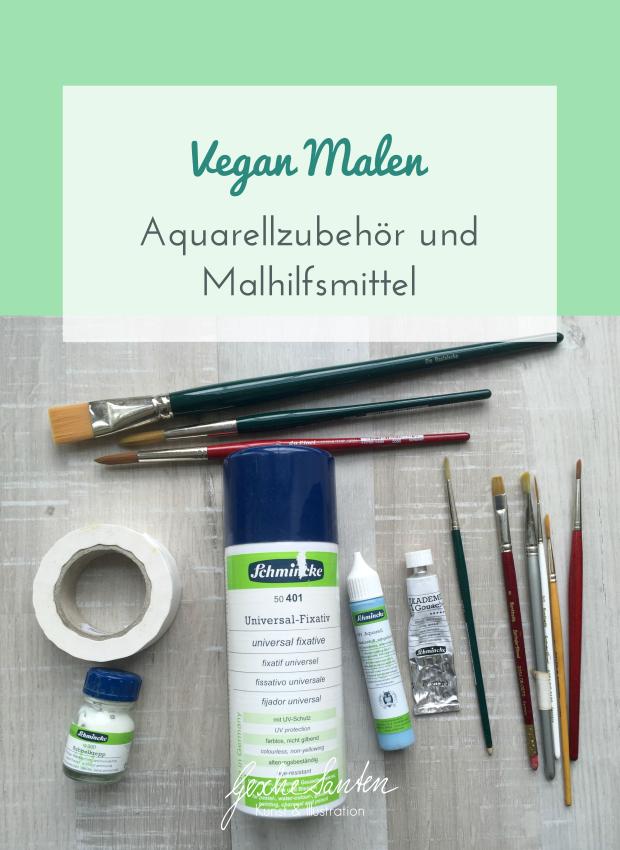 Vegan Malen - Aquarellzubehör und Malmittel   Gesche Santen Blog