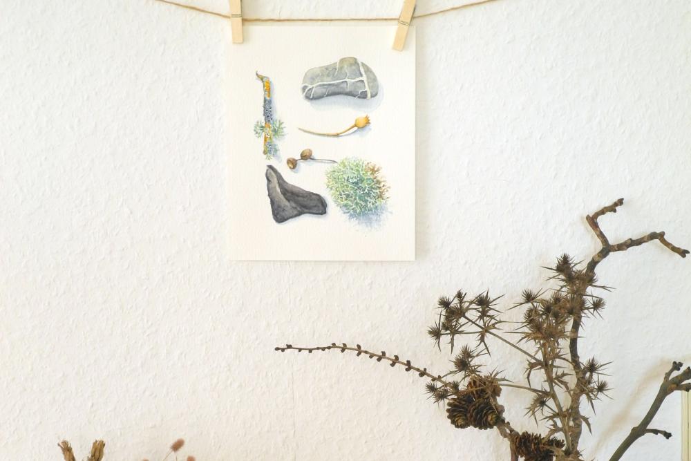 Gemalte Souvenirs  – Erinnerungsstücke und Mitbringsel in Aquarell