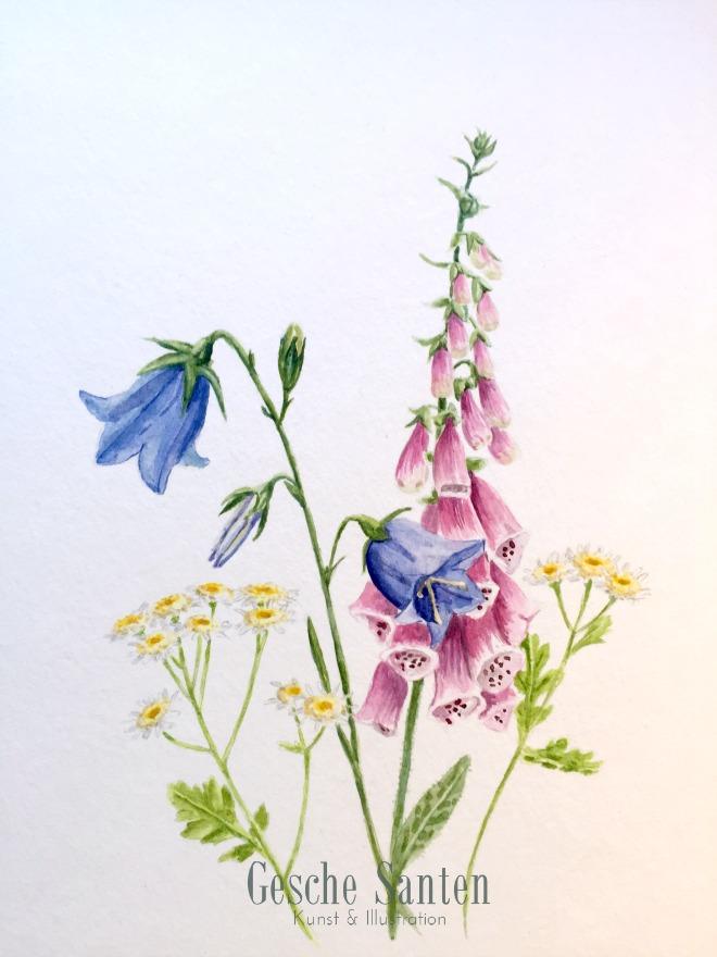 Im Garten meiner Oma – Ein Aquarell-Strauß aus Erinnerungen  Gesche Santen Blog