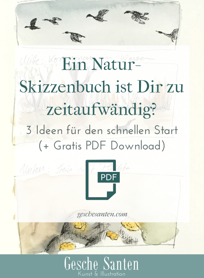 Naturskizzenbuch - Schnelle Ideen für Skizzenbuchstart + Freebie PDF zum Herunterladen