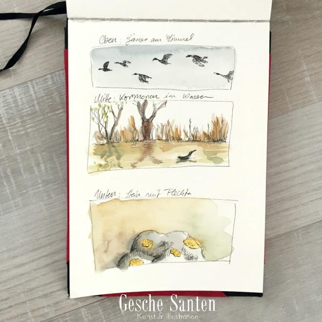 Ein Natur-Skizzenbuch ist Dir zu zeitaufwändig? 3 Ideen für den schnellen Start