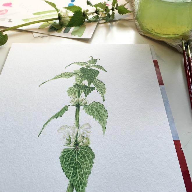Blätter malen in Aquarell –Techniken und Anwendungsbeispiele