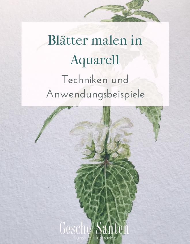 Blätter malen in Aquarell –Techniken und Anwendungsbeispiele ...