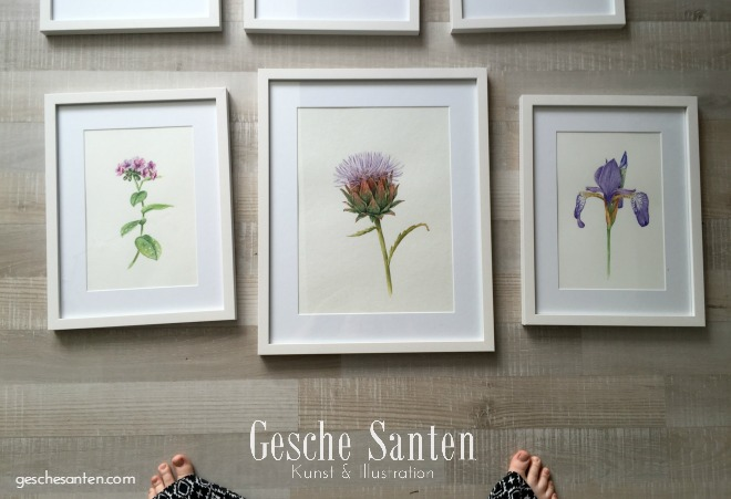 Blumenaquarelle, Botanische Aquarelle auf geschesanten.com