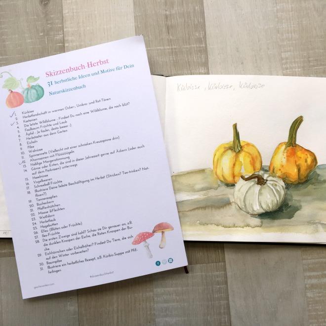 Skizzenbuch-Herbst – 31 herbstliche Ideen und Motive für Dein Naturskizzenbuch