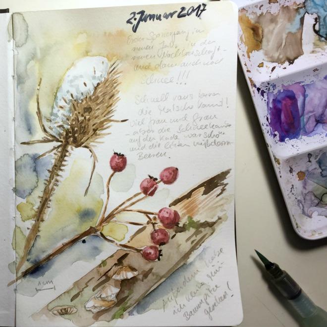 Intentionen setzten beim Skizzenbuchstart