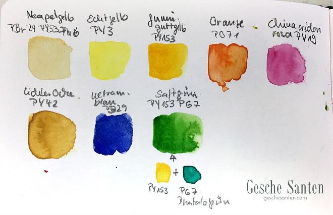 Aquarellfarben mischen - Blumen malen in Aquarell