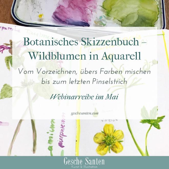 Blumen malen in Aquarell - Botanisches Skizzenbuch
