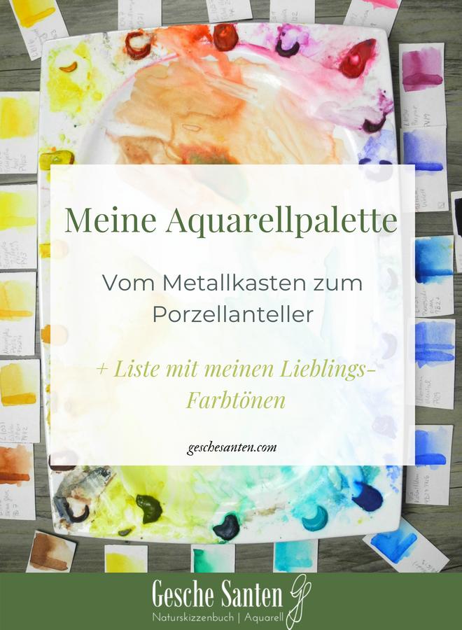 Aquarell Palette, Botanische Aquarelle, Material und Zubehör