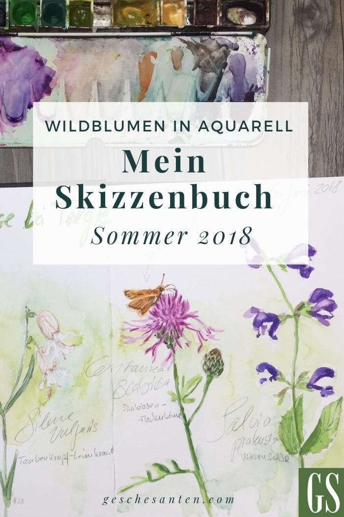 Video: Wildblumen im Skizzenbuch - Skizzenbuchtour Sommer 2018 von Gesche Santen